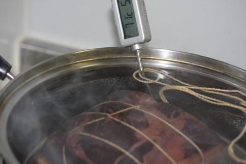 70℃でハムの熱処理