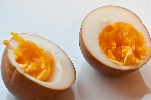 燻製卵半熟