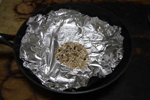 フライパン燻製器で燻製卵