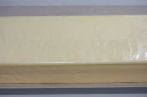 ファミリアチーズをマスキング