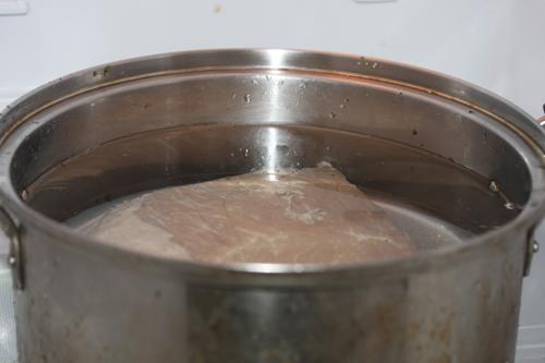 冷蔵庫で塩抜き