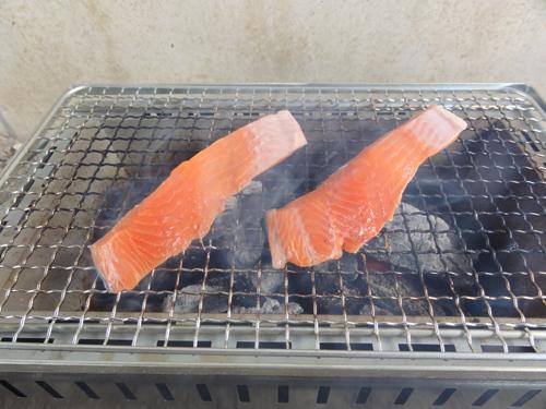 鮭切り身燻製