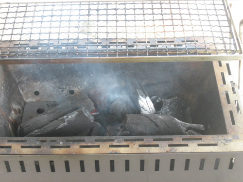 BBQコンロで炭火燻製