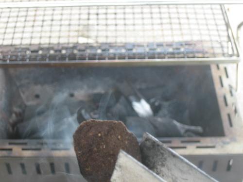 BBQコンロでピート燻製
