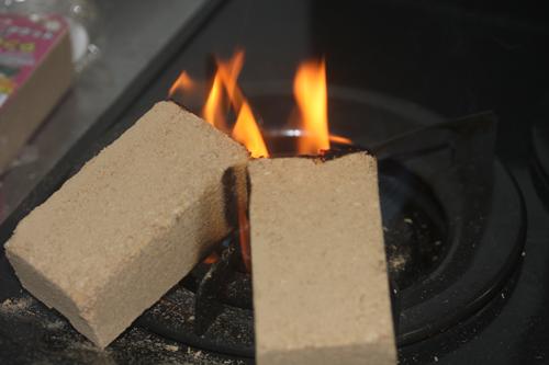 スモークウッドの火の着け方