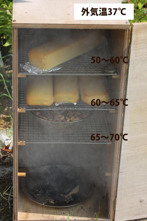 雪印ファミリアチーズの燻製と温度