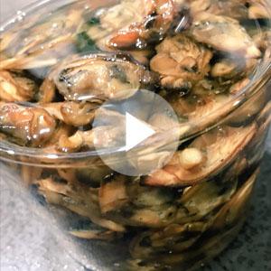 牡蠣の燻製オイル漬け動画