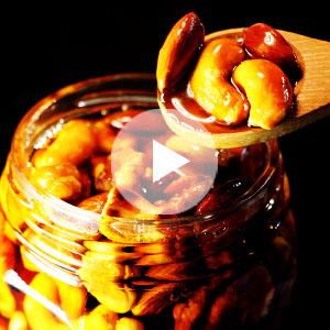燻製はちみつ漬けナッツの作り方動画